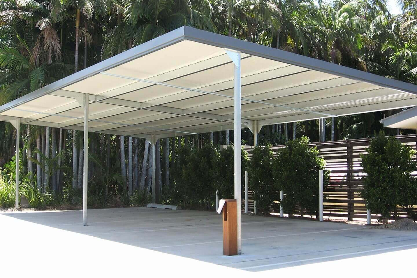 Flat Roof (Skillion) Carport